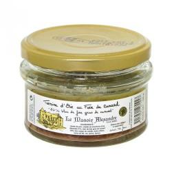 "Terrine d'oie au foie de canard ""20% Bloc de Foie gras de canard""-100 g"