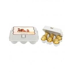 OEUFS CHOCOLAT LAIT-boite 12 mini oeufs-78grs