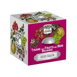 TISANE AUX FRUITS DES BOIS - BOITE METAL 24 SACHETS