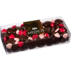 PALETS CHOCOLAT NOIR 70% assortiment St Valentin - ETUI 250 g