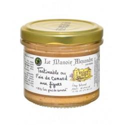 "Tartinable au foie de canard figues ""25% Foie gras de canard""-90 g"