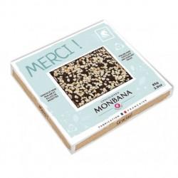 TABLETTE NOIR PRALINE ECLAT NOISETTES-MERCI-85grs