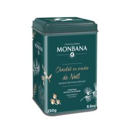 Chocolat en poudre de Noël Aromatisé Pain d'épices-BOITE 250GR