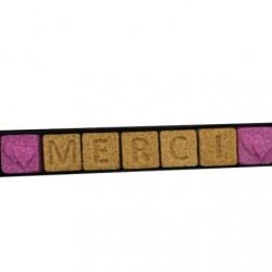"""Réglette """"MERCI"""" 7 sucres"""
