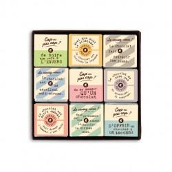"""Coffret collection de 18 carrés """"ludique"""" - 70grs"""
