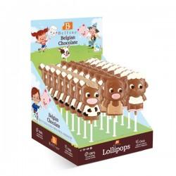 LOLLIPOPS CHOCOLAT ANIMAUX FERME 35g