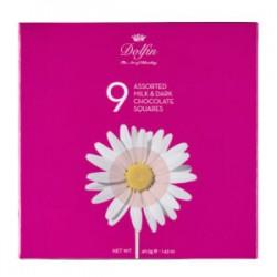 Fleurs-9 napolitains chocolat  lait & noir 70%