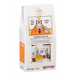 ETUI Le Chat - Assortiment De 10 Mini Tablettes Au Chocolat Au Lait
