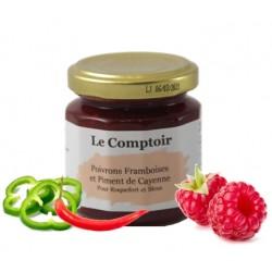 CONFIT FRAMBOISE POIVRONS PIMENT DE CAYENNE-125G